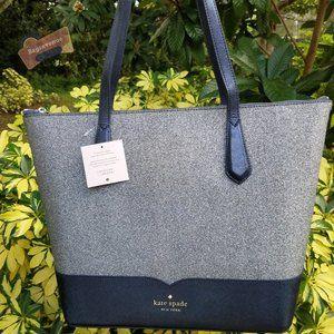 Lola Glitter Tote Blue Bag Kate Spade BNWT Glitter